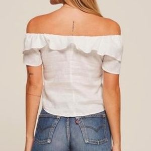 Reformation Tops - Reformation Athena Top White NWT Small Ruffle